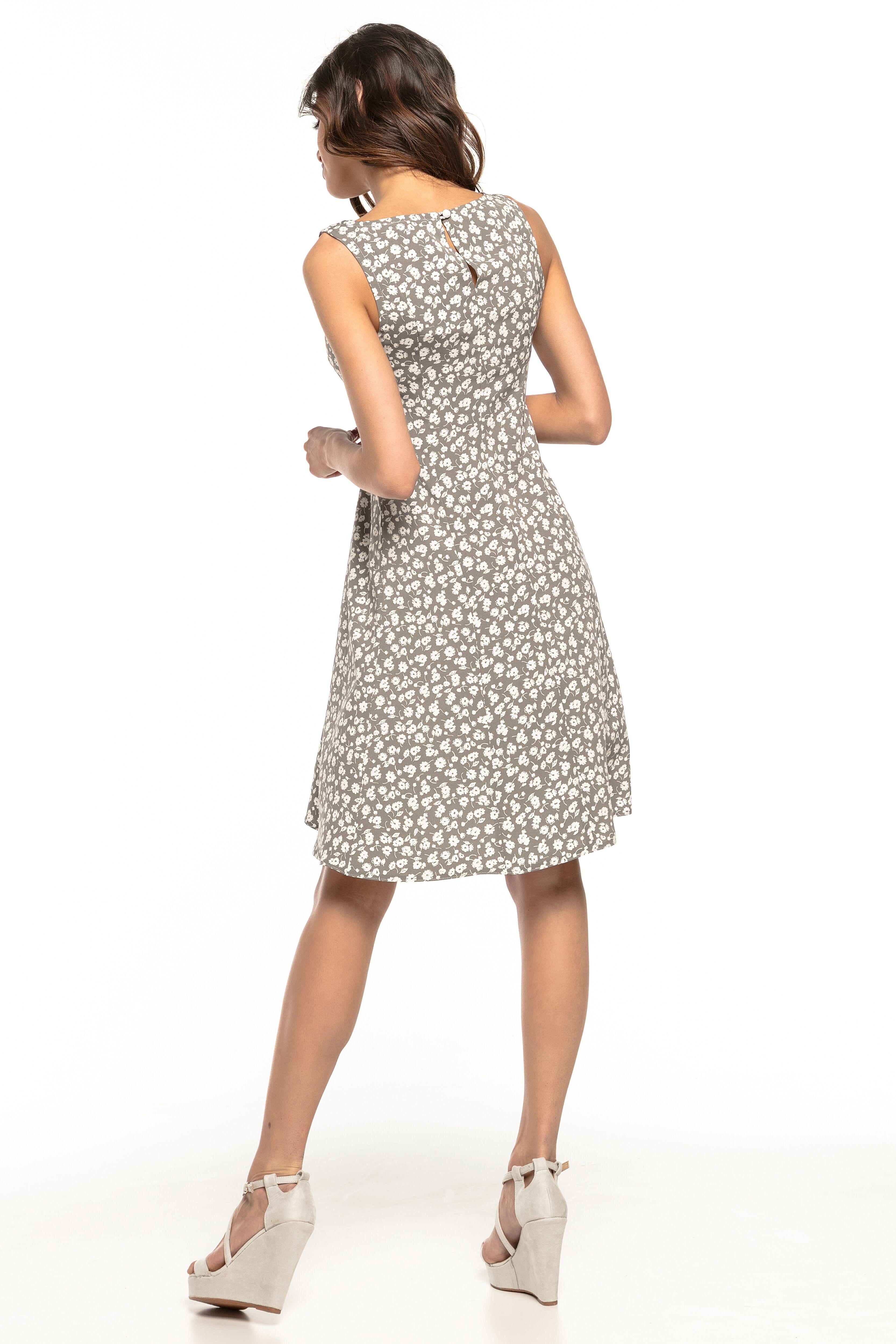 ccee6ad1715891 Sukienka rozkloszowana bez rękawów szary - tani kurier już od 5,99 zł