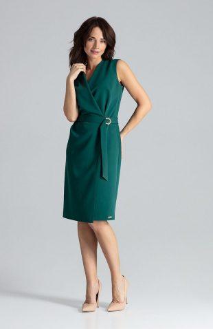 Sukienka kopertowa elegancka zielona