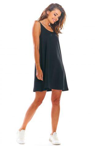 Sukienka z odkrytymi plecami czarna