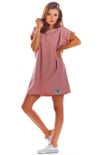 Sukienka bawełniana na lato różowa