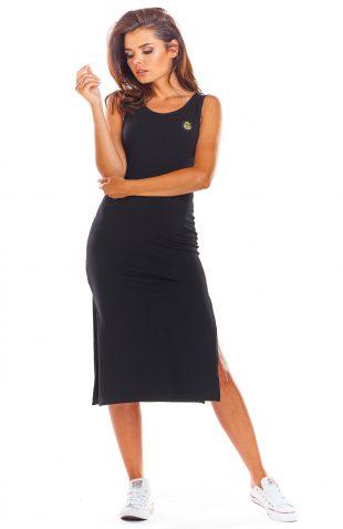 Sukienka bawełniana na ramiączka czarna