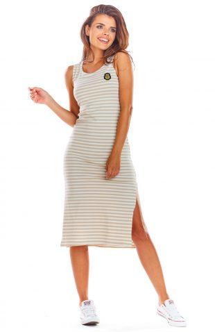 Sukienka na ramiączka w paski
