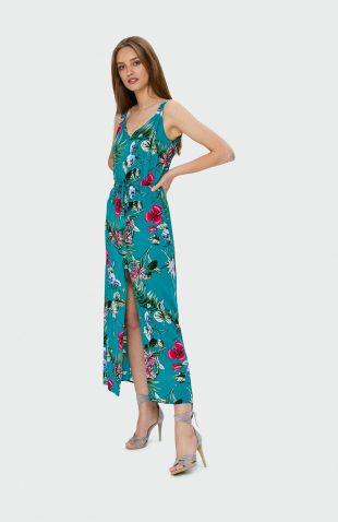 Sukienka maxi na lato w kwiaty