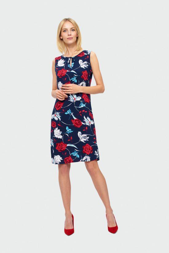 Sukienka zwiewna elegancka kwiaty