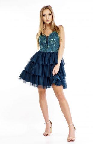 Sukienka balowa rozkloszowana zielona