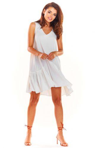 Sukienka trapezowa na lato biała