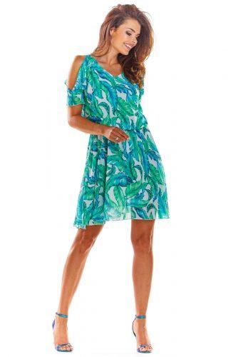 Zwiewna sukienka mini na lato