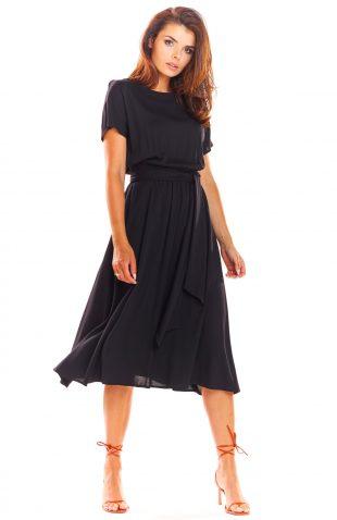 Zwiewna sukienka na lato czarna