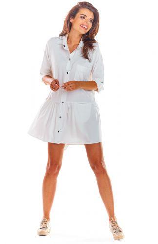 Sukienka koszulowa na lato biała