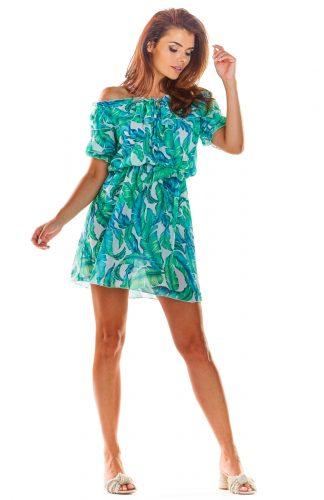 Sukienka hiszpanka mini we wzory