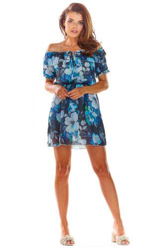 Sukienka hiszpanka mini w kwiaty
