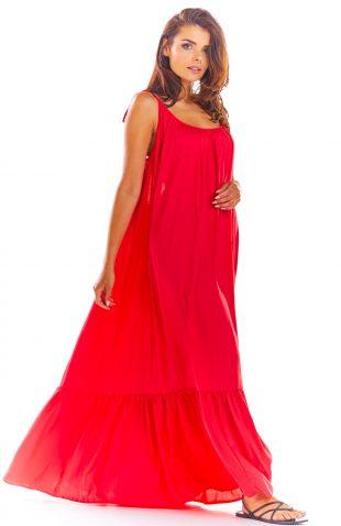 Sukienka z odkrytymi plecami fuksja