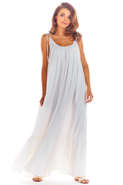Sukienka z odkrytymi plecami biała