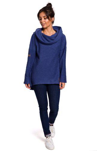 Bluza damska z kapturem niebieska
