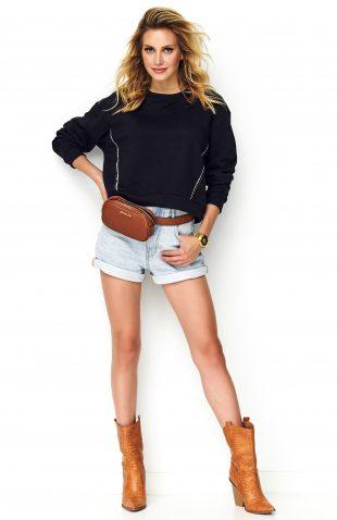 Bluza oversize bawełniana czarna