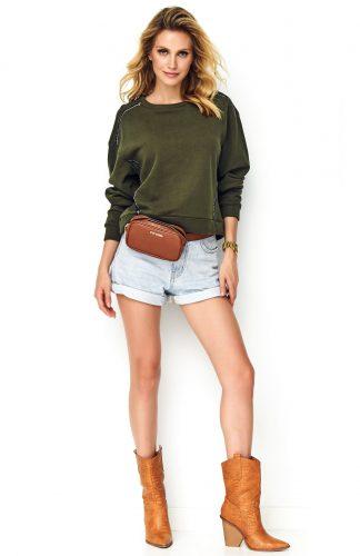 Bluza oversize bawełniana khaki