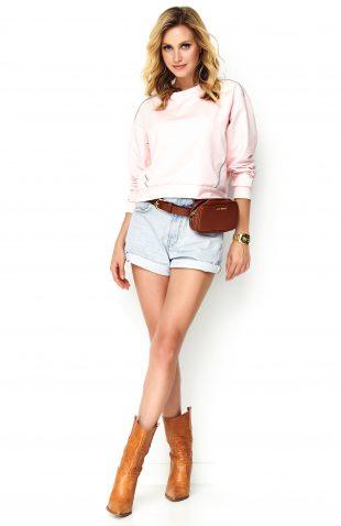Bluza oversize bawełniana różowa