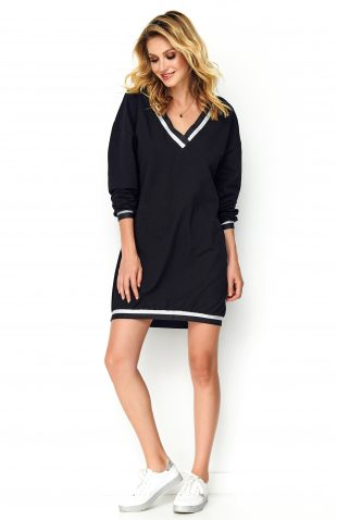 Sukienka oversize sportowa czarna