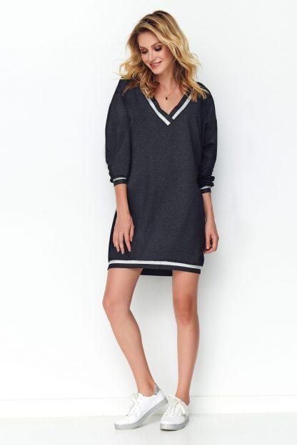 Sukienka oversize sportowa szara