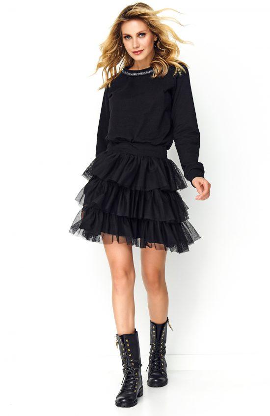 Sukienka z tiulem na dole czarna