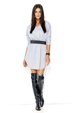 Sukienka dresowa mini szara