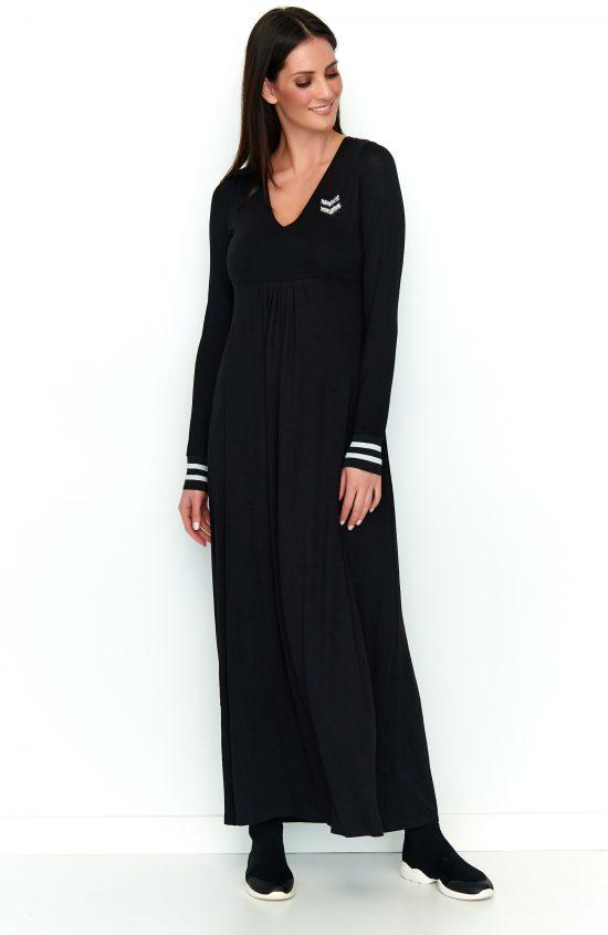 Sukienka maxi na co dzień czarna