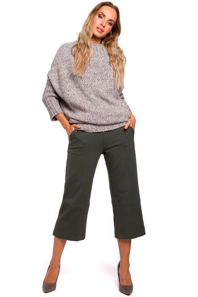Sweter z półgolfem szary