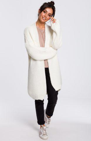 Sweter z szerokimi rękawami ecru
