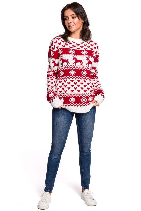 Sweter w świąteczny wzór