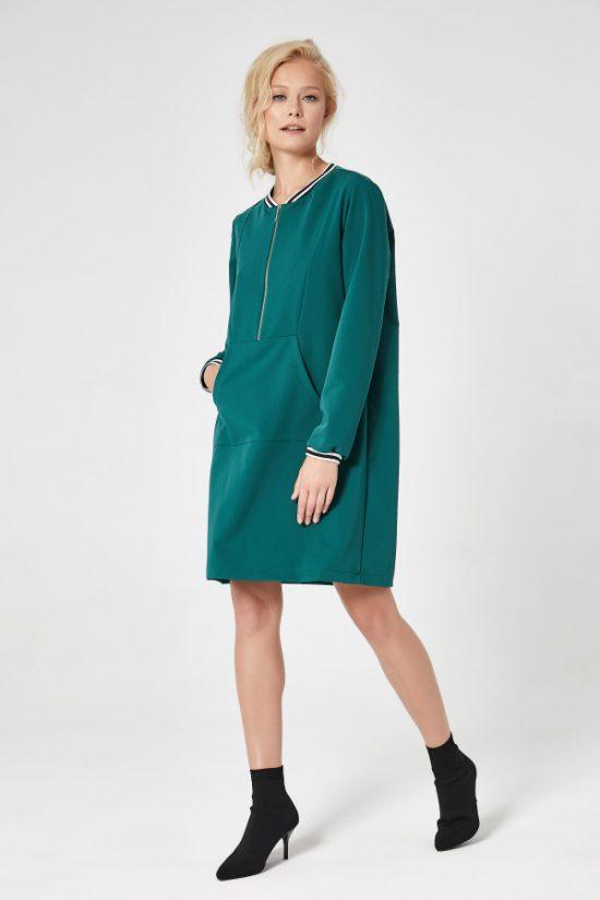 Sukienka sportowa trapezowa zielona