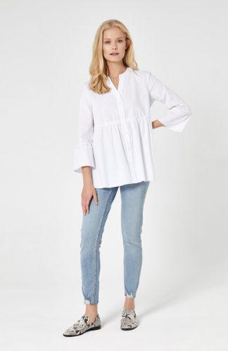 Koszula odcinana pod biustem biała