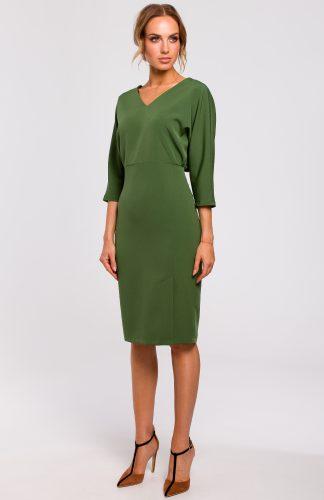 Sukienka ołówkowa z kimonową górą zielona