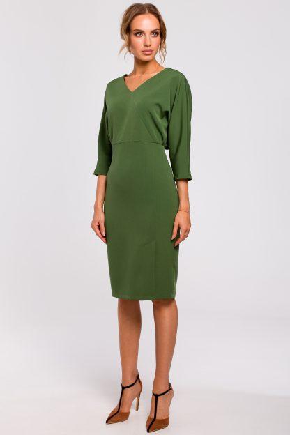Sukienka z kimonową górą zielona