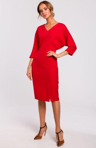 Sukienka z kimonową górą czerwona