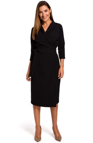 Sukienka kopertowa midi czarna