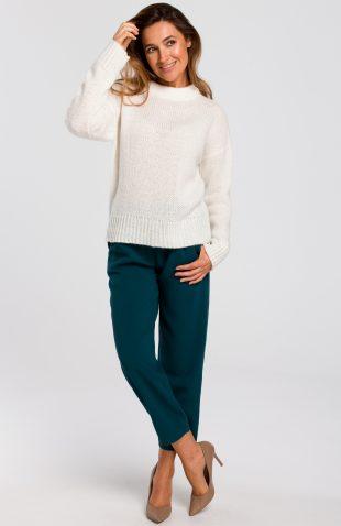 Sweter wkładany przez głowę ecru