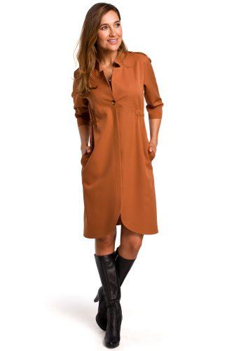 Sukienka żakietowa do pracy ruda
