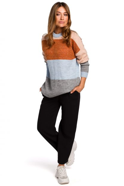 Sweter w szerokie pasy