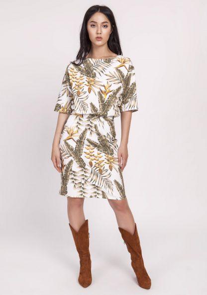 Sukienka kimonowa elegancka