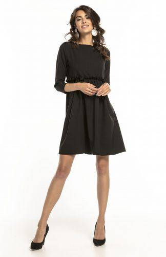 Sukienka odcięta pod biustem czarna