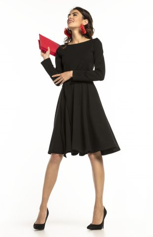 Sukienka rozkloszowana elegancka czarna