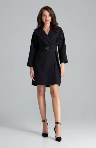 Sukienka żakietowa elegancka czarna