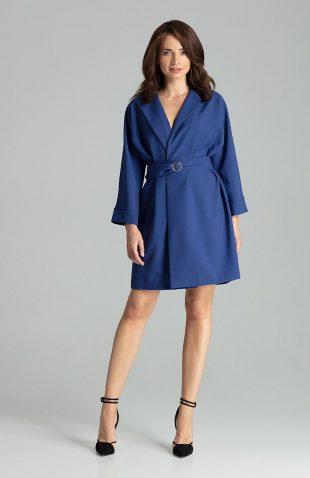 Sukienka żakietowa elegancka szafirowa