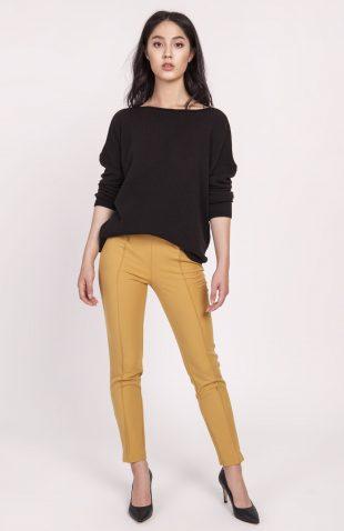 Dzianinowa bluzka oversize czarna