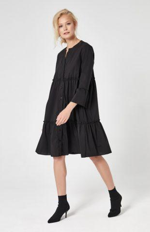Sukienka na guziki czarna
