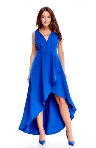Sukienka wieczorowa maxi niebieska