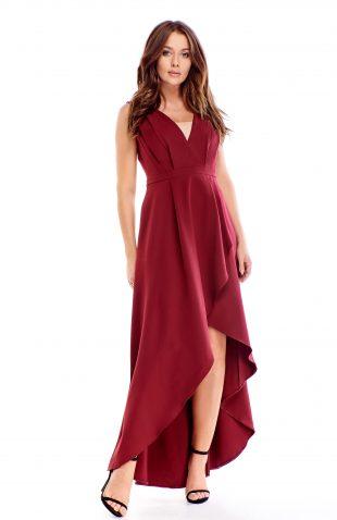 Sukienka wieczorowa maxi bordowa