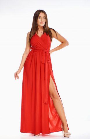 Sukienka wieczorowa maxi czerwona