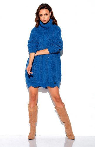 Sweter oversize z golfem,