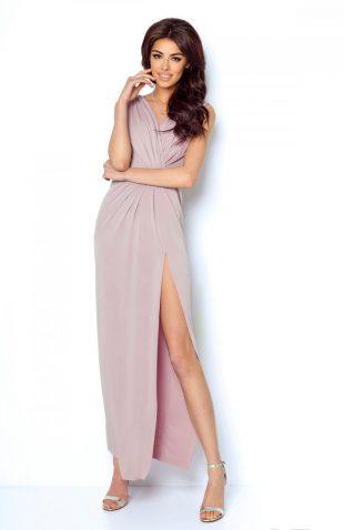 Sukienka wieczorowa maxi różowa
